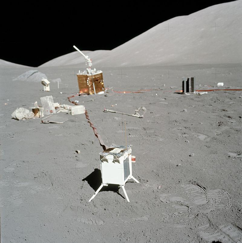 Paquete de instrumentos científicos instalados durante la misión Apollo 17.  Crédito: NASA