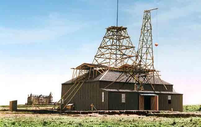 Laboratorio de Nikola Tesla en Colorado Spring donde es probable que se haya detectado la primera llamada fallida de ET. Crédito: Rex Hebert