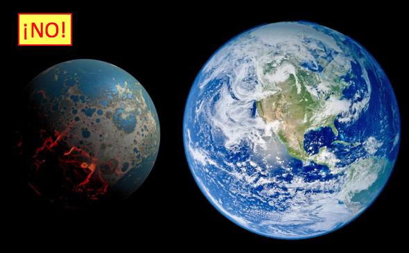 Si extrapoláramos la expansión del universo a la escala de la Tierra, esta última se habría expandido 1,5 veces desde su formación