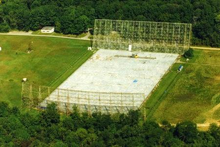 Observatorio de Big Ear, la cancha de fútbol (como la llamaremos cariñosamente) que detectó la señal Wow! en 1977.